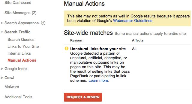 уведомление Manual Warning